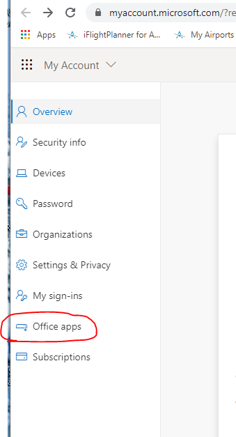 office apps link