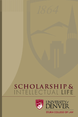 Scholarship and Intellectual Life Flipbook