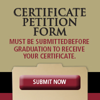 Certificate Petition Form