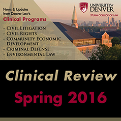 Clinical Program Review Spring 2016