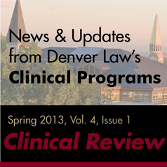 Clinical Program Newsletter Spring 2012