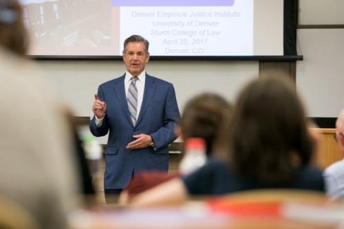 Jim Leventhal generously sponsored the Denver Empirical Justice Institute's spring speaker series
