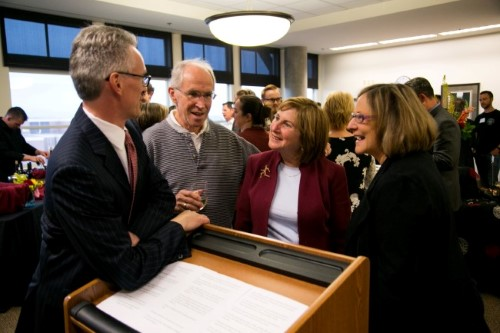 Dean Bruce Smith, renown trial attorney Jim Gilbert, Professor Diamond and Professor Joyce Sterling continue the dialog between the practicing bar and academics.