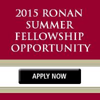 2015 Ronan Summer Fellowship Opportunity