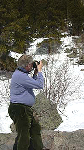 April 8, 2005 - David Edward at Bear Lake, Rocky Mountain National Park, CO