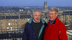 November 21, 2005 - David Edward & Don Smith overlooking Edinburgh, Scotland