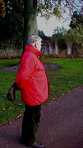 November 20, 2005 - David Edward walking on grounds of Edinburgh Botanical Gardens