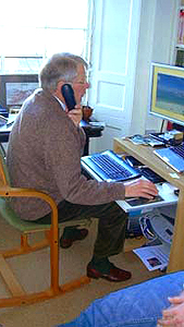 November 19, 2005 - David Edward in Edinburgh, Scotland office