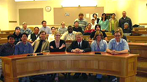 April 6, 2005 - David Edward speaks to DU law class