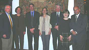April 8, 2005 - David Edward, Ved Nanda and others at dinner after 2005 Sutton Colloquium