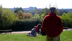 April 29, 2006 - Judge Edward looks out over a springtime Edinburgh skyline
