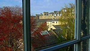 May 1, 2006 - The view from Judge Edward's office in Edinburgh