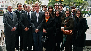Student intern Roy McFarland with law colleagues in Buenos Aires, Argentina