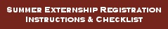 Fall Externship Registration, Instructions & Checklist