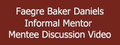 Faegre Baker Daniels - Informal Mentor Mentee Discussion Video Banner