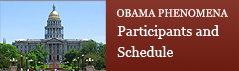 Obama Phenomena | Participants and Conference Schedule (PDF)