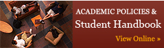 Academic Policies and Student Handbook | View Online