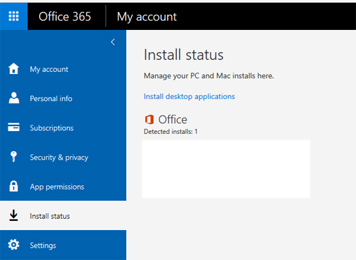 install status link