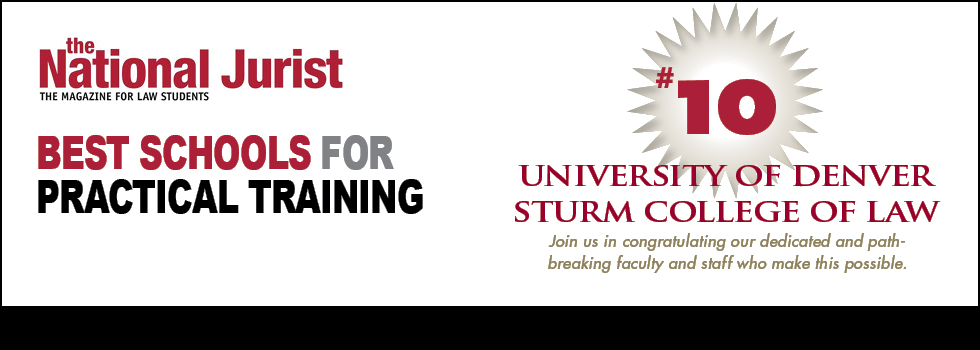 #10 for Best Schools for Practical Training - National Jurist