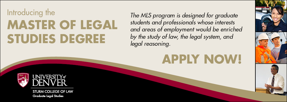 Introducing the Master of Legal Studies Degree