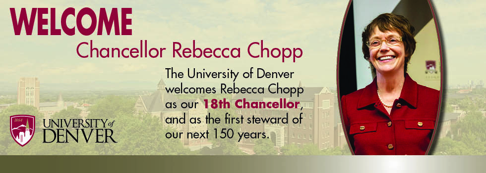 Welcome Chancellor-elect Rebecca Chopp
