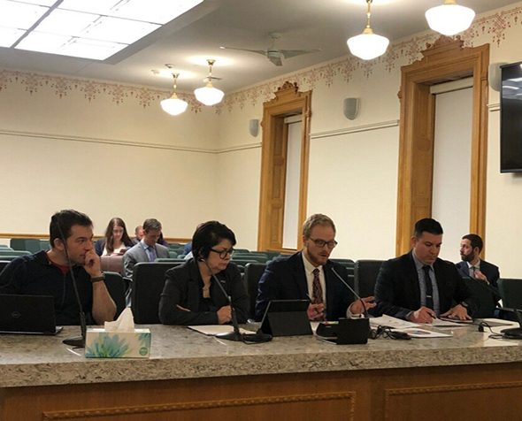 ILPC students testifying before Colorado's House Judiciary Committee