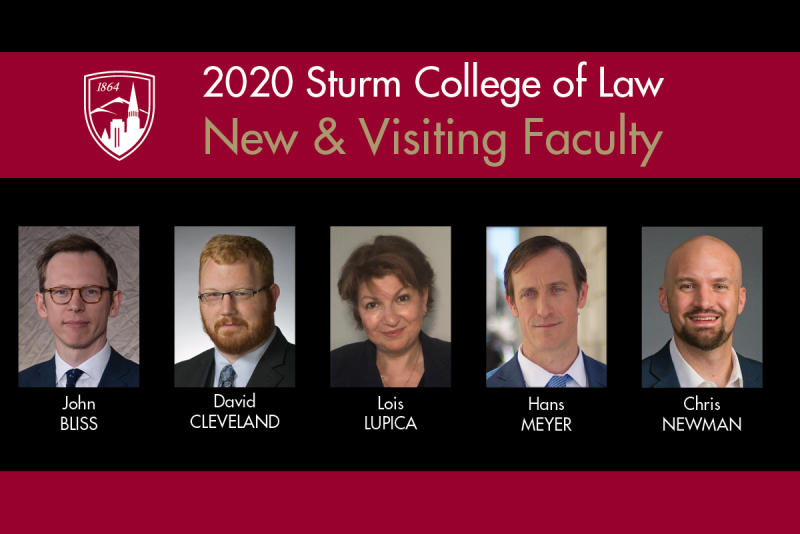2020 New & Visiting Faculty