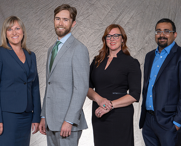 group pictire of 2018 new Denver Law faculty members