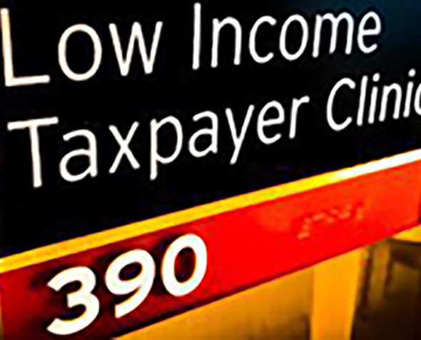 Low Income Taxpayer Clinic sign