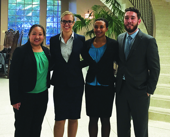 Center for Advocacy Vis Moot students