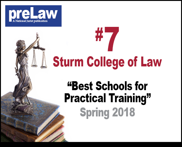 prelaw magazine ranks Denver Law #7 for pratical training