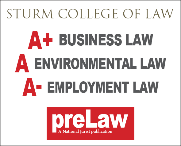 Sturm College of Law receives high marks from preLaw magazine