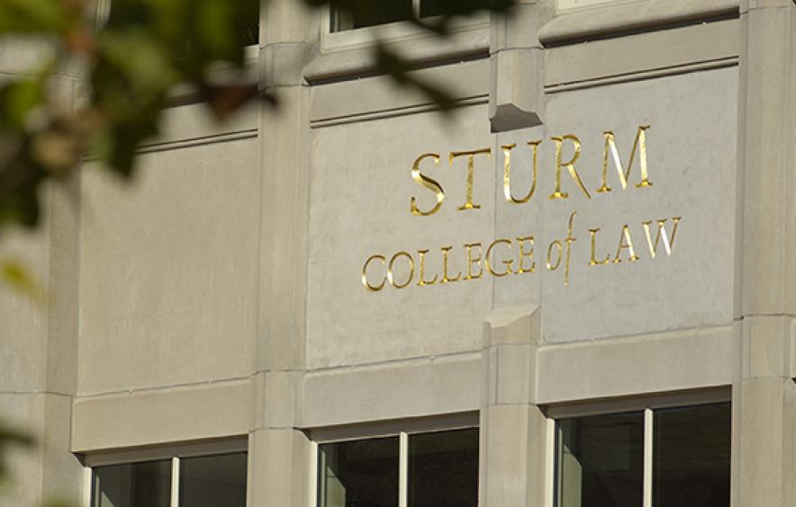 Sturm College of Law engraved name