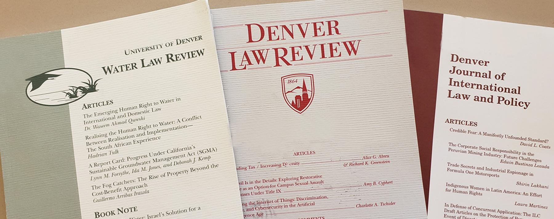 image of Denver law journals and reviews